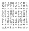 line web icons vector image vector image
