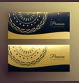 luxury mandala golden banner design vector image vector image