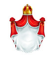 medieval heraldic emblem realistic template vector image vector image