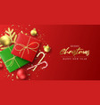 merry christmas and new year banner vector image vector image