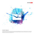 message secure icon - watercolor background vector image