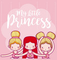 my little princess cute card vector image
