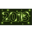 Neon New Year card 2013 vector image
