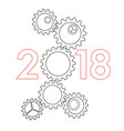new year 2017 concept - vector image