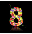 number eight made from fruit vector image vector image