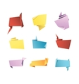 Origami Banner Speech Bubble Paper Set vector image vector image