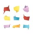 Origami Banner Speech Bubble Paper Set vector image vector image