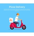 Pizza Delivery Concept Banner Design vector image