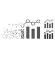 point chart dissolving pixel halftone icon vector image vector image