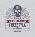 quote typographical background about skateboard vector image