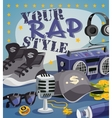 Rap Music Concept vector image vector image