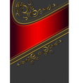 Red border with gold pattern vector image vector image