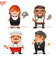 restaurant professions set vector image