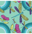 Retro dragonfly pattern vector image
