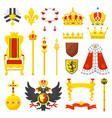 royal crown royalty emblem and golden vector image