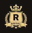 royal logo vector image