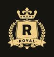 royal logo vector image vector image