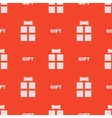 Seamless gift pattern vector image vector image