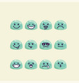 set of jelly drop head with emotion signs vector image vector image