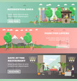 set of love horizontal banners in flat vector image vector image