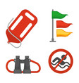 set of rescue items vector image