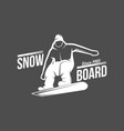 snowboarding badge winter sport vector image vector image