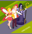 street artists living statues composition vector image vector image