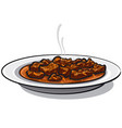 traditional goulash meat vector image vector image