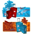 travel around the worl background vector image vector image