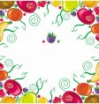 tropical fruit framework vector image vector image