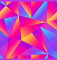 vibrant triangle seamless pattern vector image vector image