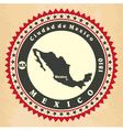 Vintage label-sticker cards of Mexico vector image vector image