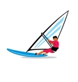 Windsurfing sign vector image vector image