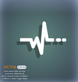 pulse icon On the blue-green abstract background vector image