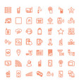 49 mobile icons vector image vector image