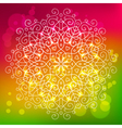 Abstract bright background with a round mandala vector image vector image