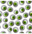 abstract green eye seamless pattern vector image vector image