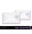 Air mail envelope with postal stamp isolated on vector image vector image
