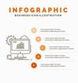 analytics chart seo web setting infographics vector image