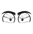 angry eyes cartoon vector image