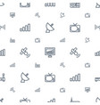 antenna icons pattern seamless white background vector image vector image