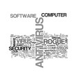 antitheft alarm systems text word cloud concept vector image vector image