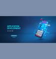 application website software development vector image vector image