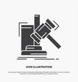 auction gavel hammer judgement law icon glyph vector image