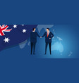 australia international partnership diplomacy vector image vector image