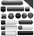 Black high-detailed modern buttons vector | Price: 1 Credit (USD $1)