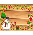Border with christmas theme vector image