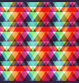 bright triangle seamless pattern vector image