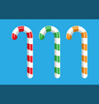 candy cane christmas vector image