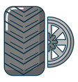 car wheel tire icon cartoon style vector image vector image
